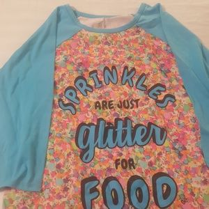Justice sprinkles are just glitter for food gown